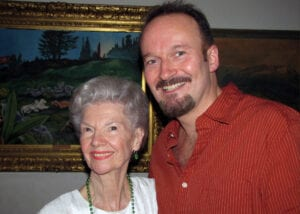 With Norma Doggett (one of the original 'Seven Brides')