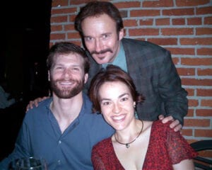 With Misty Ann Sturm and Gregg Goodbrod, backstage, 'Secret Garden,' Fulton Opera House