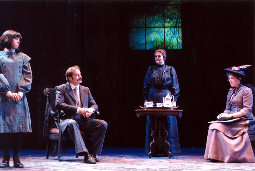 Scene with Morgan Harner Geduldig, Donna M. Ryan and Kate Erin Gibson